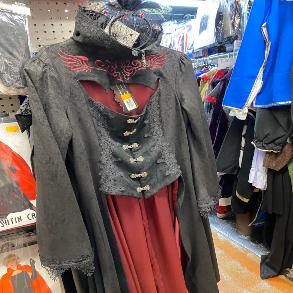 Gothic Vampire Ren Coat for Halloween Costume