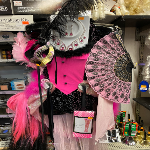 The Jokers Wild Show Girl Pink Display
